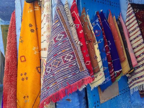 Las alfombras son otra de las especialidades de Chefchauen.