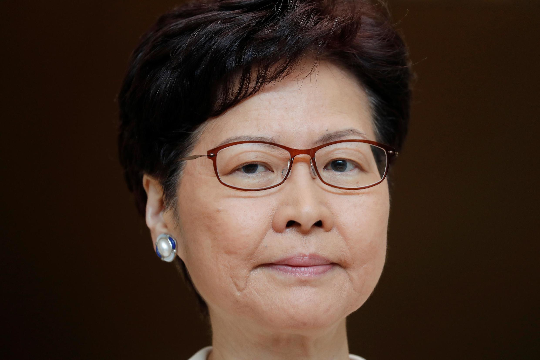 Trưởng đặc khu Hồng Kông, Lâm Trịnh Nguyệt Nga họp báo vào sáng ngày 17/092019 kêu gọi đối thoại.