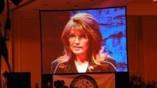 Sarah Palin à la première Convention du Tea party à Nashville.