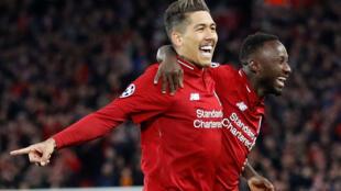 Roberto Firmino (esquerda) e Naby Keita (direita) apontaram os dois golos no triunfo do Liverpool por 2-0 frente ao FC Porto.