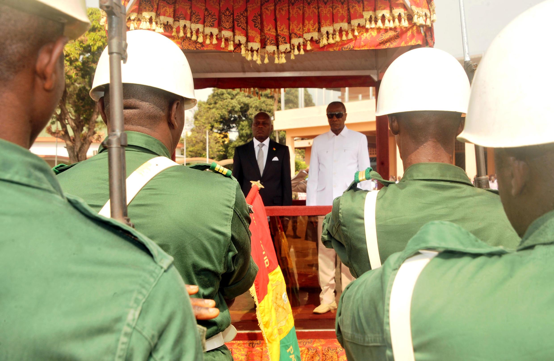 José Mário Vaz, Presidente da Guiné-Bissau, e Alpha Condé, mediador da CEDEAO para a Guiné-Bissau