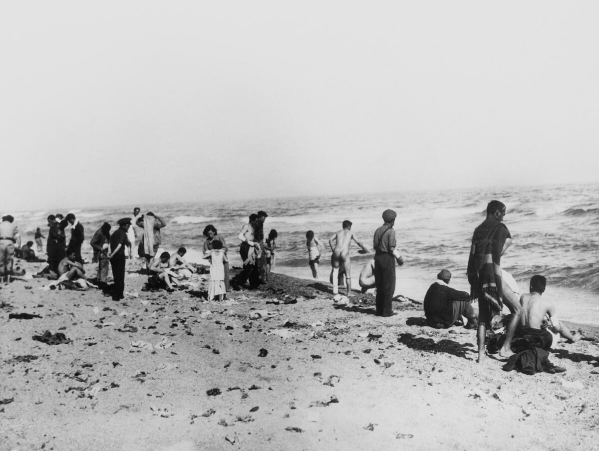 El campo de concentración de Argelès en febrero de 1939.