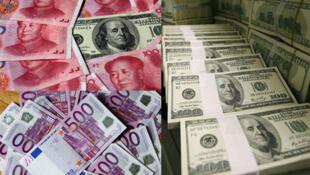存檔圖片:人民幣-歐元-美元