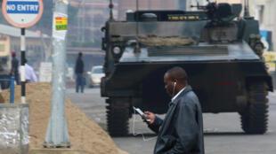 Harare, capital zimbabueana, a 17 de Novembro de 2017.
