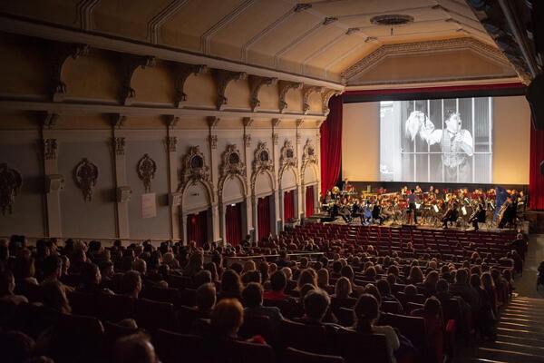 La grande salle du Kino Europa à Zagreb.