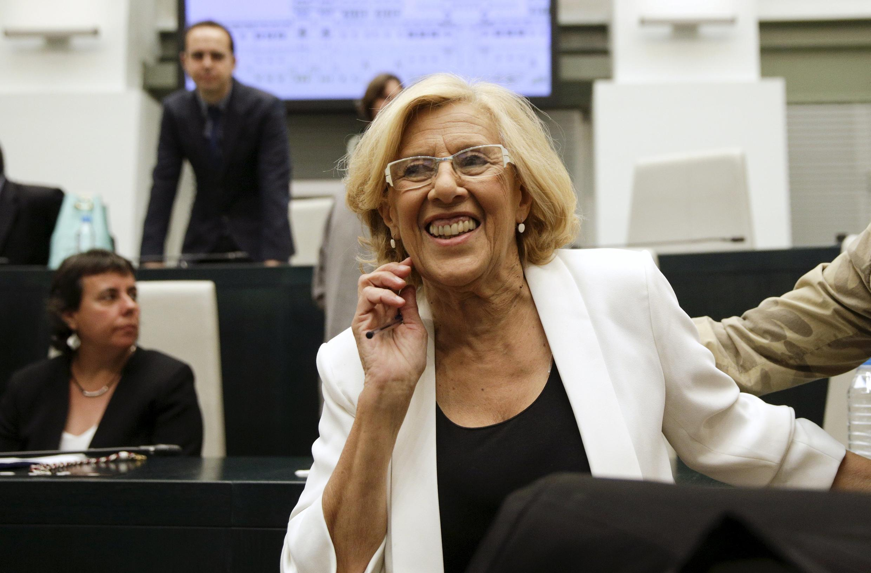 A nova prefeita de Madri, Manuela Carmena.