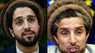 Afghanistan national icon Ahmad Shah Massoud, right, on 5 Apri, 2001 in Strasbourg, and his son Ahmad Massoud on 25 August, 2019 in Kabul.