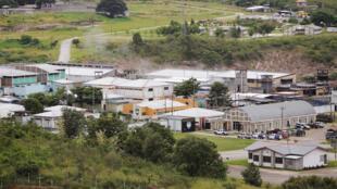 Vue de la prison Marco Aurelio Soto à Tamara, le 3 août 2013, dans la banlieue de Tegucigalpa, la capitale du Honduras.