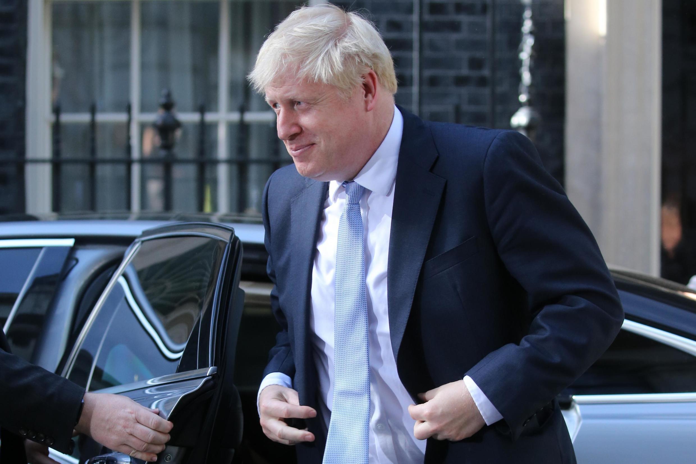 Le nouveau Premier ministre britannique Boris Johnson à son arrivée au 10 Downing Street, à Londres, le 24 juillet 2019.