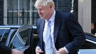 Britain's prime minister Boris Johnson arriving at 10 Downing Street in London on 24 July 2019.