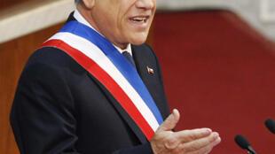 El lunes 21 de mayo de 2012 el presidente chileno, Sebastián Piñera, presentó su rendición de cuentas en el Congreso Nacional.