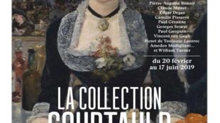 Affiche de l'exposition de « La Collection Courtauld » à la fondation Louis Vuitton à Paris.