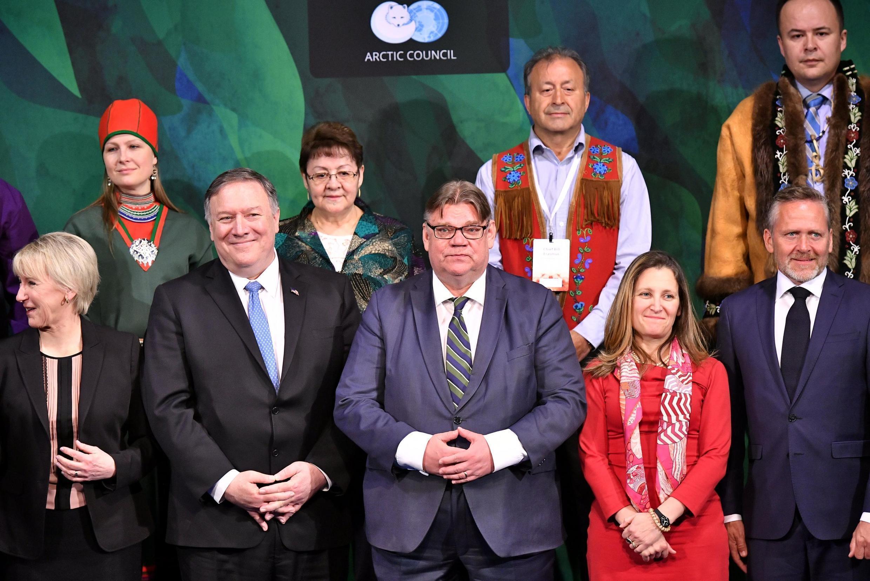 Ngoại trưởng các quốc gia thành viên Hội Đồng Bắc Cực. Ảnh tại Rovaniemi, Phần Lan, ngày 07/05/2019.