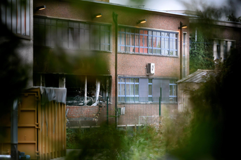 Một phần của Viện Nghiên Cứu Tội Phạm Bruxelles bị ngọn lửa phá hủy ngày 29/08/2016.