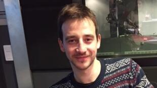 L'écrivain québécois Christian Guay-Poliquin en studio à Rfi (janvier 2018).