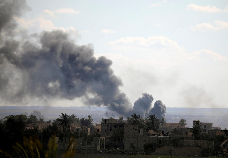 Bahguz es el teatro de bombardeos y enfrentamientos intensos desde el viernes pasado.