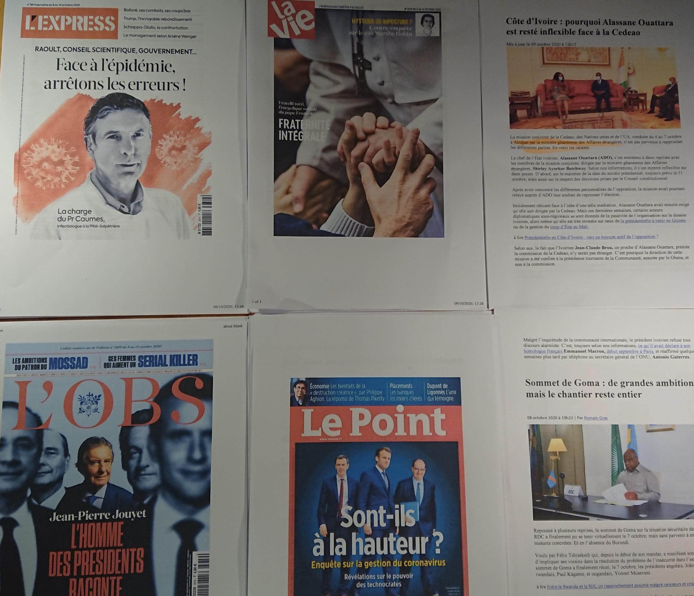 Semanários franceses 10 10 2020