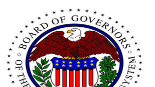Logo de la Réserve fédérale, la banque centrale des Etats-unis.
