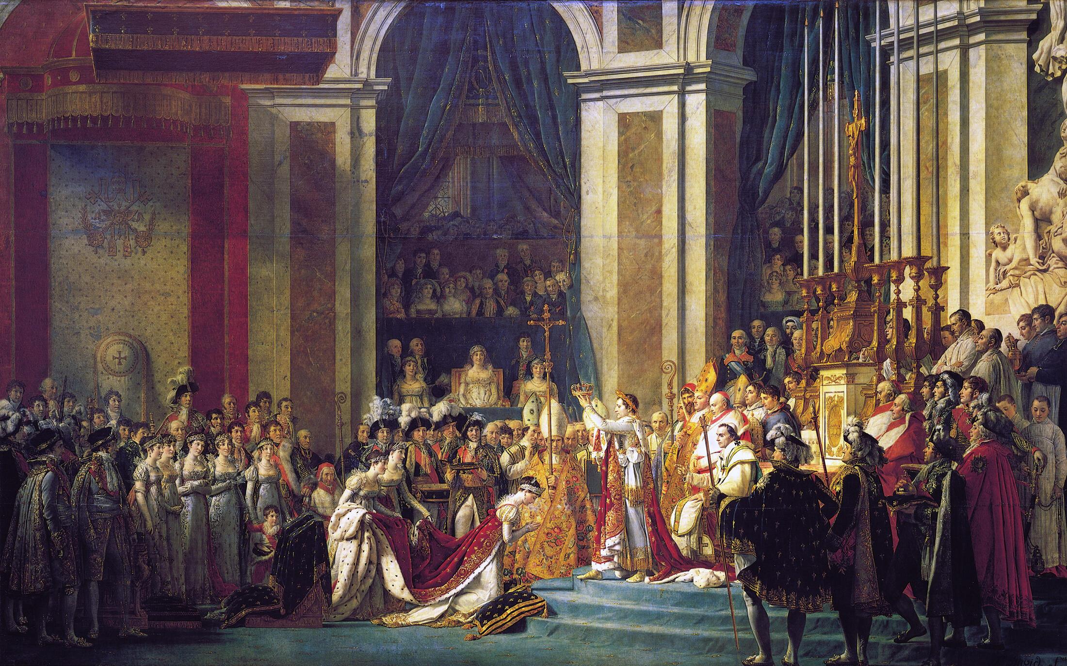 Le couronnement de Napoléon par Jacques Louis David