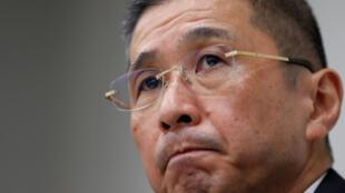 Hiroto Saikawa, le directeur général de Nissan lors d'une conférence de presse lundi 19 novembre 2018 à Tokyo.