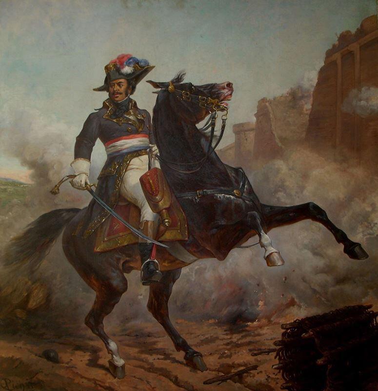 Конный портрет отца Александра Дюма, генерала Тома Александра Дави де ля Пайетри, работы художника Оливье Пиша