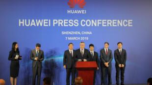 2019年3月7日華為在深圳宣布控告美國政府