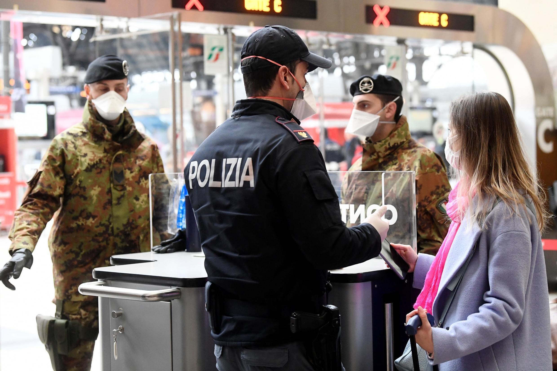 Thành phố Milano, Ý, được canh phòng nghiêm ngặt. Ảnh chụp ngày 09/03/2020