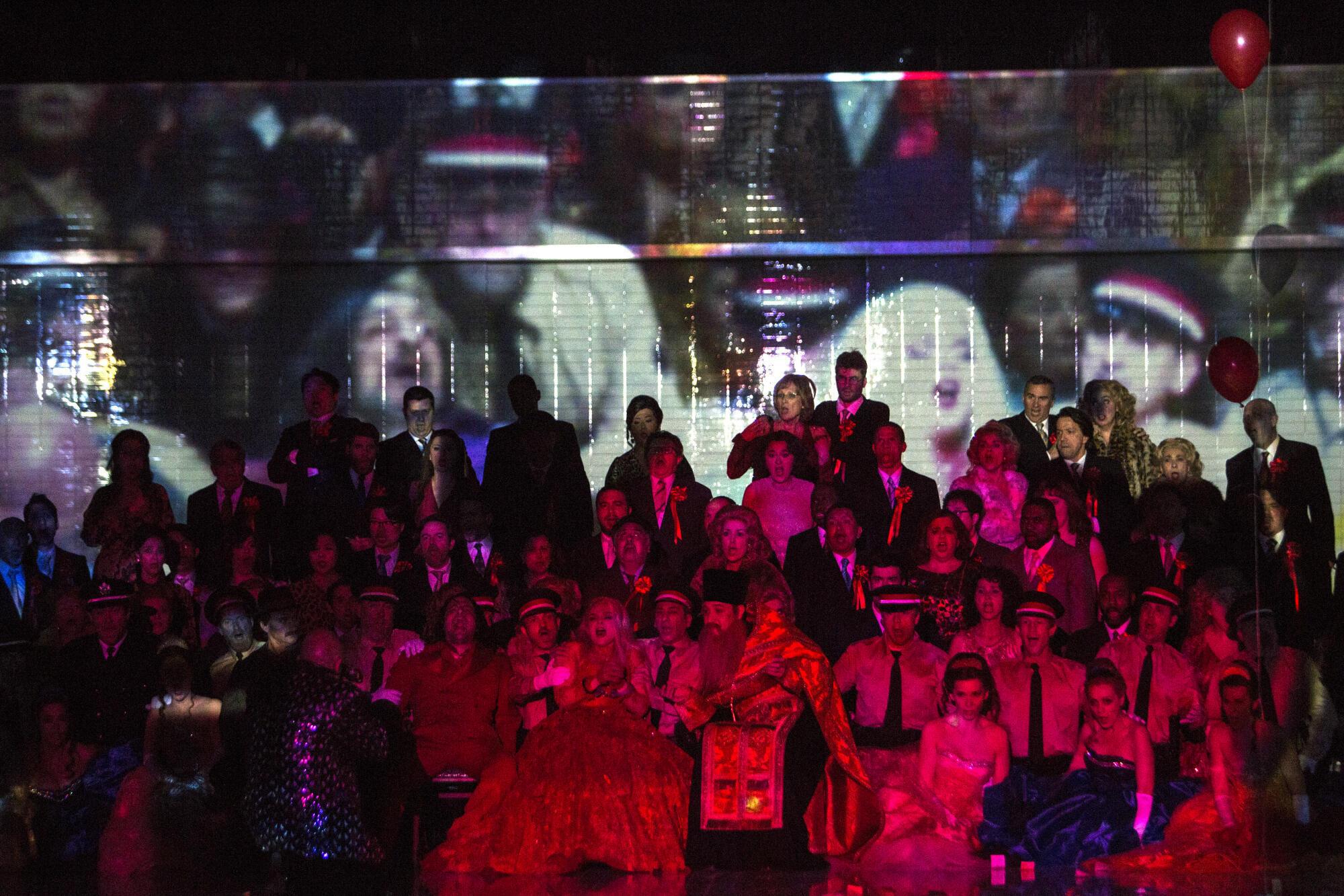 «Леди Макбет Мценского уезда» на сцене Парижской оперы. Второй акт, сцена свадьбы.  Апрель 2019 г.
