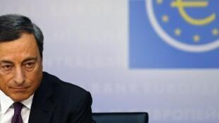 Mario Draghi, président de la Banque centrale européenne, le 4 septembre 2014.