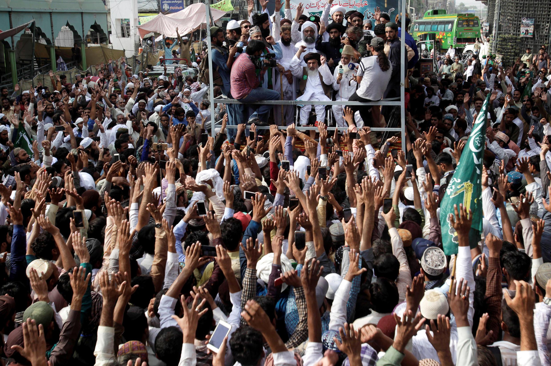 Biểu tình tại Lahore, Pakistan ngày 29/08/2018 phản đối việc Hà Lan tổ chức cuộc thi biếm họa về nhà tiên tri Mohamed.