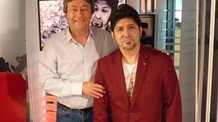 Leo Zelada con Jordi Batallé en RFI
