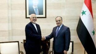 محمدجواد ظریف وزیر امور خارجه ایران،با «عماد خمیس» نخست وزیر سوریه دیدار و گفتگو کرد.