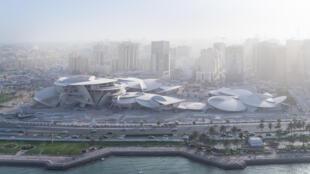 Vue extérieur du nouveau musée national du Qatar, «La rose des sables» de l'architecte Jean Nouvel.