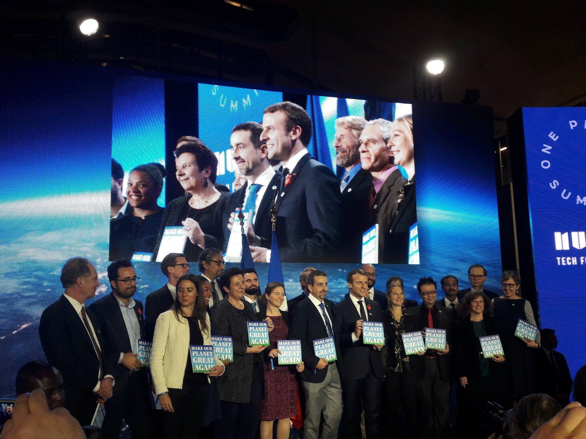 """Sete mulheres e 11homens de seis países: Emmanuel Macron revela os 18 primeiros selecionados para o programa """"Make Our Planet Great Again"""", lançado após a retirada dos Estados Unidos do Acordo de Paris"""