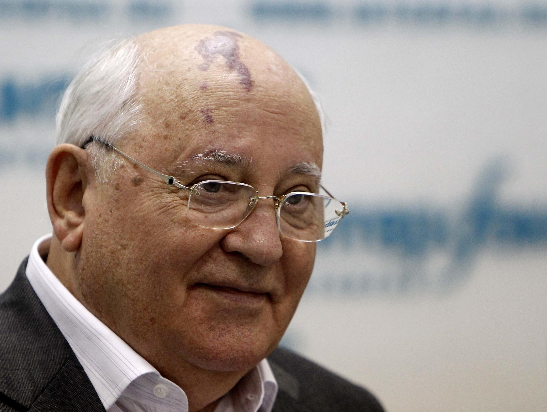 Ông Mikhail Gorbachev trong cuộc họp  báo ngày 17/08/2011 tại Matxcơva