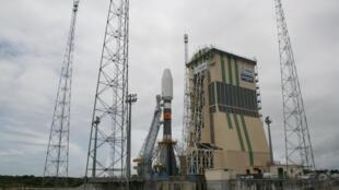 Ракета-носитель «Союз» на стартовой площадке Гвианского космического центра