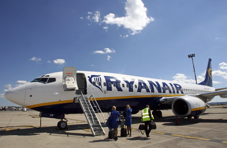 A Ryanair plane at Marignane airport near Marseille.