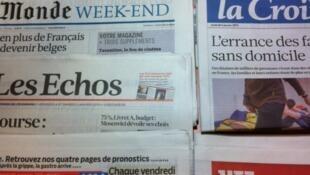 Primeiras páginas diários franceses 4/1/2013