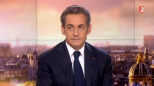 Nicolas Sarkozy durante su entrevista en el canal France 2, este 21 de septiembre de 2014.