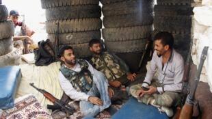 Des combattants de l'Armée syrienne libre à Alep, le 18 septembre 2013.