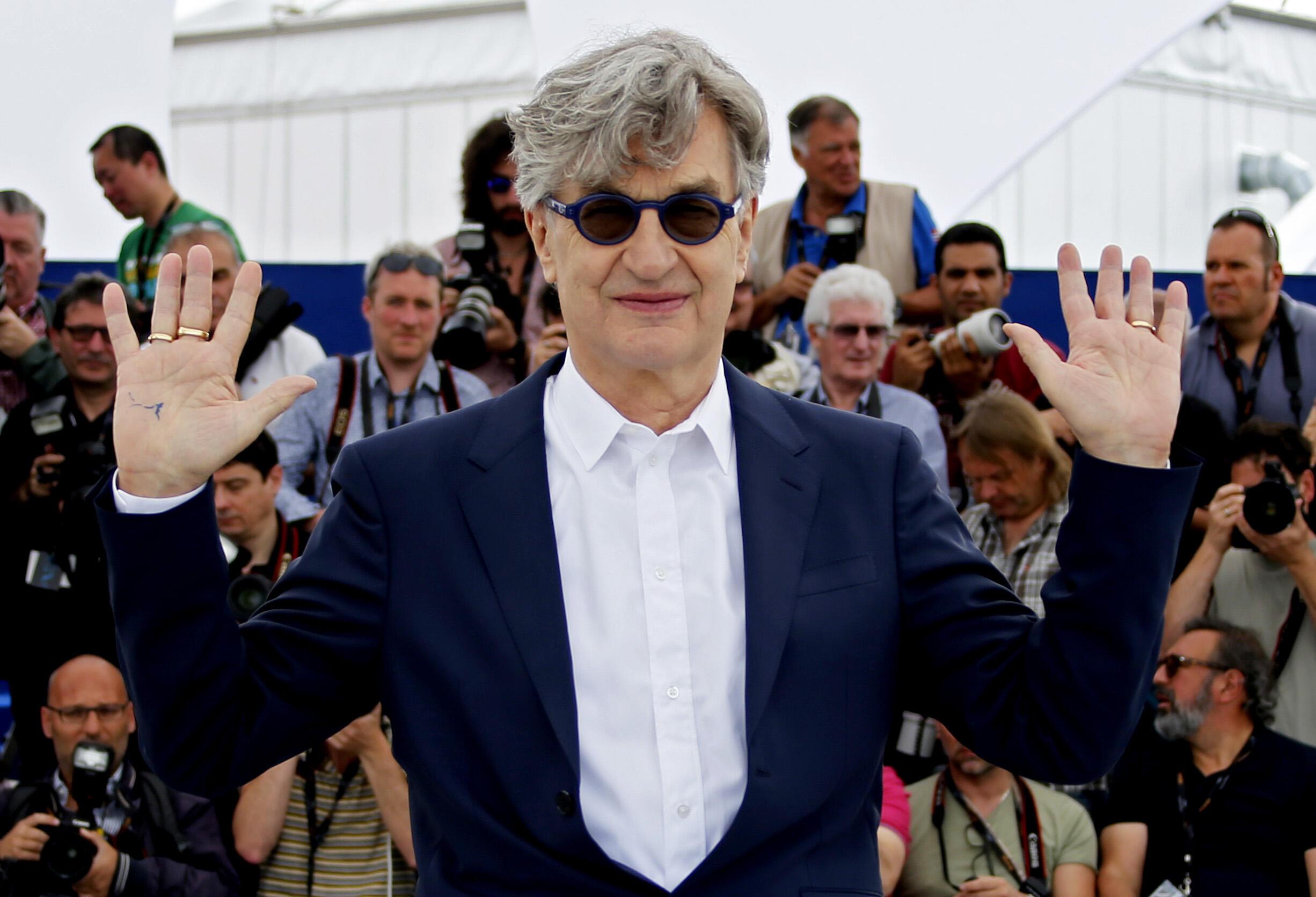 Вим Вендерс перед показом его фильма в Каннах 13 мая 2018 г.