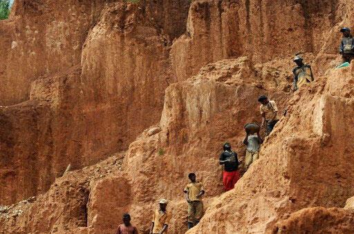Mine d'or de Chudja en République démocratique du Congo.