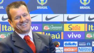Reprodução de vídeo da coletiva do novo treinador da Seleção Brasileira, Dunga nesta terça-feira, 22.