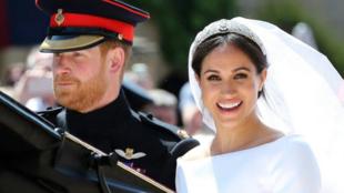 Le prince Harry et Meghan Markle le 19 mai 2018, jour de leur mariage