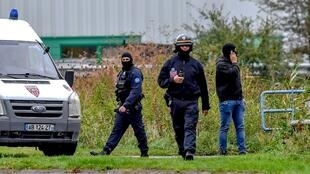 Police at the raid on Centre Zahra France on Tuesday morning
