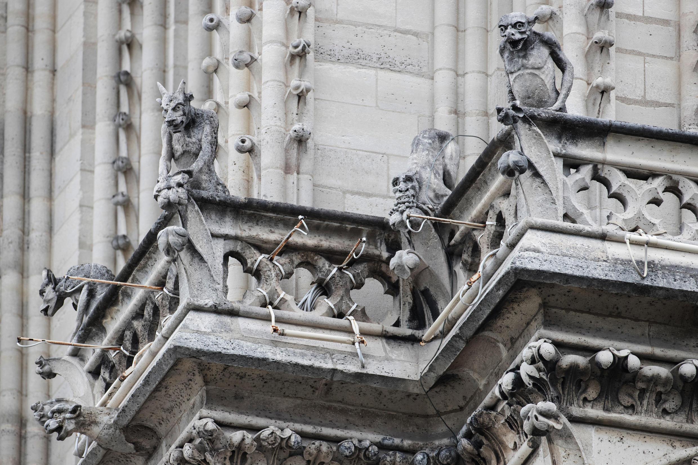Архитектор Эжен Виолле-ле-Дюк, руководивший реставрацией Нотр-Дам де Пари в 19 веке, вдохновлялся тем, как Гюго описал горгулий. Фото 9 июня 2020