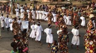 Célébration de l'Epiphanie à Porto-Novo, au Bénin, en 2018.