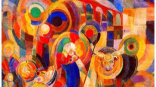 Peinture de l'artiste Sonia Delaunay.