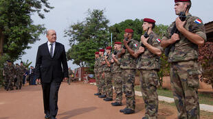 """French Minister of Defence Jean-Yves Le Drian says he felt """"betrayal"""" over the allegations that French soldiers have sexually abused refugee children"""