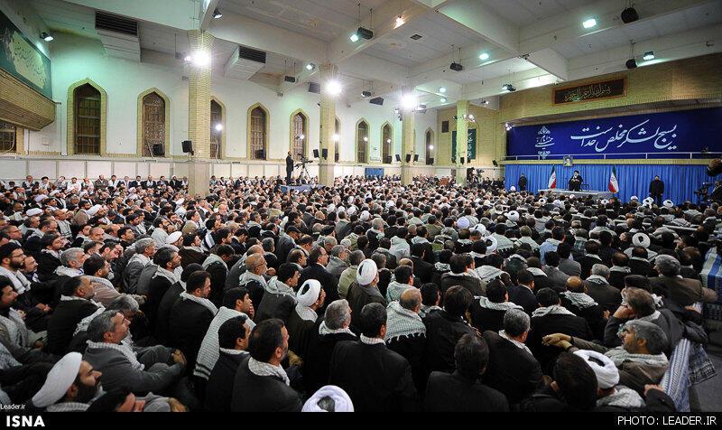 دیدار آیتالله علی خامنهای، رهبر جمهوری اسلامی ایران با اعضای مجمع عالی بسیج مستضعفین